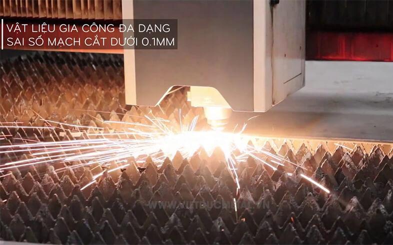 Cắt laser CNC kim loại tấm: Sắt, Thép, Nhôm, Inox, Đồng