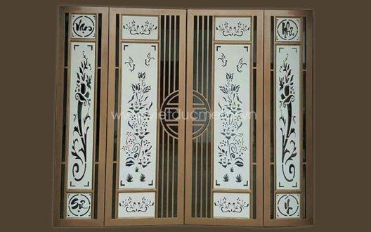 Mẫu cửa sắt cnc 4 cánh đẹp hiện đại
