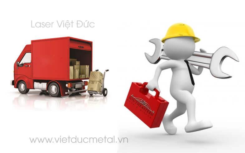 Vận chuyển và lắp đặt sản phẩm cho khách hàng