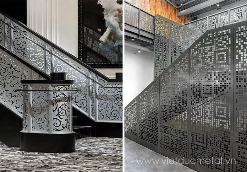 Cầu thang sắt cắt laser cnc nghệ thuật đẹp