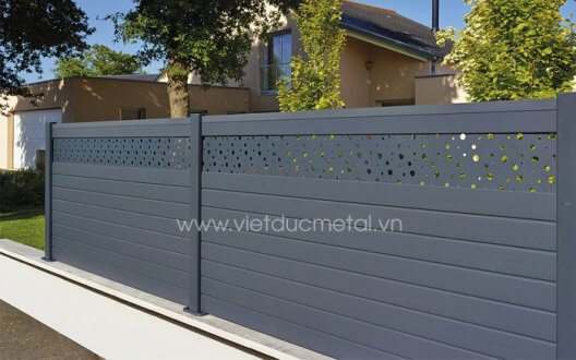 Mẫu hàng rào sắt đẹp đơn giản