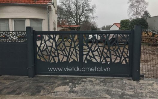 Mẫu cổng hàng rào sắt đẹp