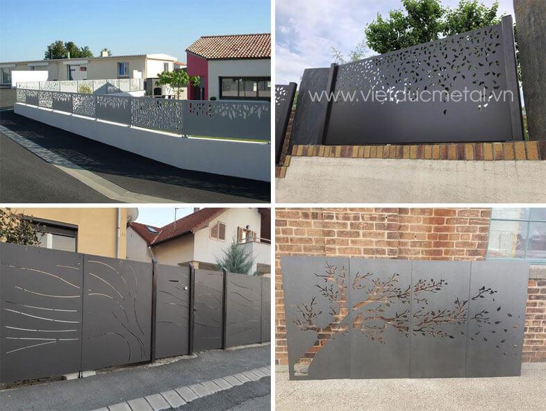 Mẫu hàng rào sắt thiết kế nghệ thuật đẹp