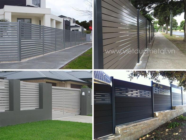 Hàng rào sắt hộp đẹp mẫu mã đa dạng