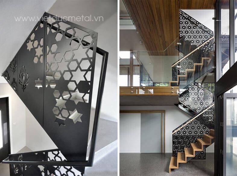 Lan can cầu thang sắt CNC đẹp