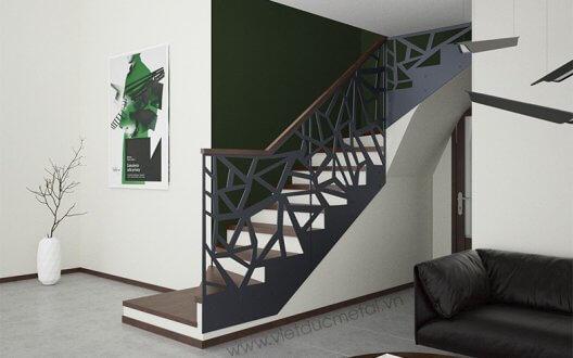 Cầu thang sắt cắt CNC: Giải pháp phù hợp cho mọi không gian sống