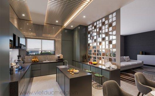 Vách ngăn CNC phòng bếp: Phân loại và những ưu điểm nổi bật